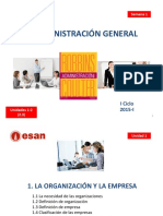 SEM 1  La Organizacion, proceso Administrativo