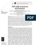 Self-Audit of Process Performance