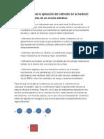 Explicación de La Aplicación Del Voltmetro en La Medición de Las Variables de Un Circuito Eléctrico