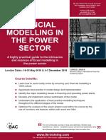 Financial Modelling in Power Sector