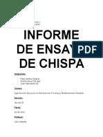 Informe de Ensayo de Chispa