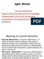 Presentation of Tourist Attractions