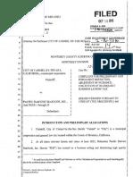 COMPLAINT Case No. 15CV000014 10-13-16