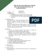 PLAN DE TRABAJO DE LAS ELECCIONES DEL CONCEJO ESCOLAR 2016  INSTITUCIÓN EDUCATIVA  DE GUELLAYCANCHA.docx