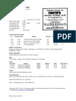 1917 Tooth's Pale Ale recipe (Australia)