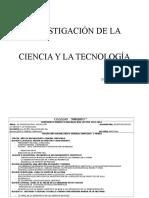 Investigación de La Ciencia y La Tecnología