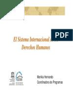 Sistema Internacional de Derechos Humanos. PPT