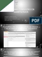 Generar Consultas en Wampserver