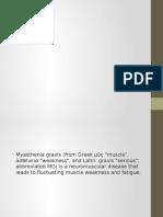 Myasthenia Gravis and Parkinson's