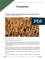 Al Limite Sobre Crisis y Populismo Por Luis Garcia Mora