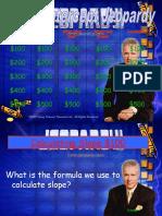 Slope-Intercept Jeopardy