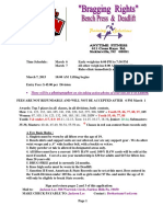 2015 Bragging Rights Bench Press and Deadlift Entry Form