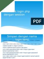 Login Php Dengan Session