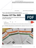 Name of the Bill _ the Indian Express