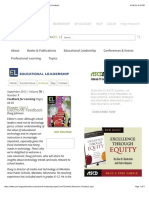 el-feedback for learning electronic feedback