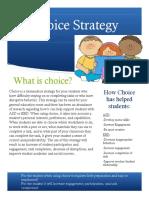 choice strategy  1