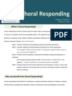 choral responding strategy
