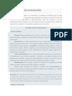 Elaboración Del Presupuesto y Analisis de Logo