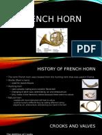 french horn presentation