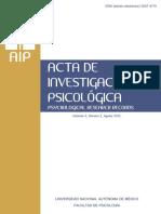 Acta Investigacion Psicologica 5 2 FacultadPsicologia UNAM 2015