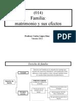 (014) Familia Matrimonio y Sus Efectos- Carlos Lopez diaz