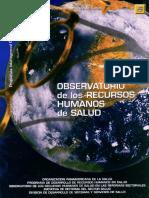 Observatorio de Rrhh en Salud DE OPS