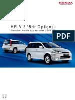 44238 Honda HR-V 3 5 Door 02YM Genuine Honda Accessories
