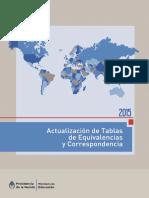Equivalencias Del Ministerio de Educación