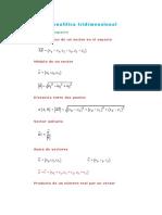 Geometría Analítica Tridimensional
