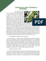 La Agroindustria en El Peru y Desarrollo Sostenible