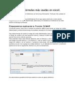 Funciones o Fórmulas Más Usadas en Excel
