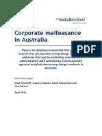 Corporate Malfeasance in Australia
