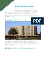15 Universitas Terbaik Di Arab Saudi
