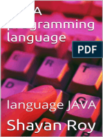JAVA Programming Language - Shayan Roy