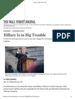 Hillary is in Big Trouble - WSJ