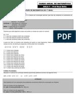 Td de Matemática - Aula 1 - Frente 1 - Versão 12