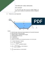 Diseño de Canal Rectangular y Trapesioidal