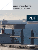 Reality Check on Coal - Less value, more harm