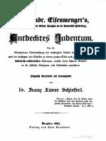 Schieferl Franz - Johann Andreas Eisenmenger's Entdecktes Judentum (1893, 597 S., Scan, Fraktur)