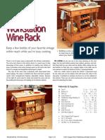 Kitchen Workstation Wine Rack