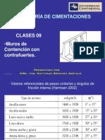 09) Ing. Cimentaciones - Clase 9 Contrafuertes (10!02!16)