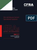 GRA_5.7 Incidents Involving Explosives