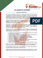 Codigo de Etica y to Interno de Jovenes Lideres Del Ecuador.