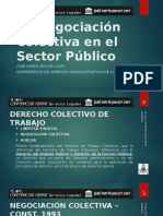 DESCRIPCIÓN DE LA NEGOCIACIÓN COLECTIVA EN EL SECTOR PÚBLICO (PERÚ) - JOSÉ MARÍA PACORI CARI