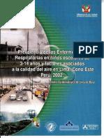 ANTECEDENTE 01 - Prevalencia Enfermedades Respiratorias Lima Cono Este