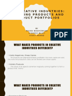 Creative Industries Product