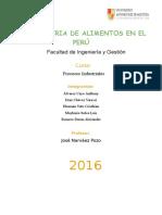 La Industria de Alimentos en El Perú