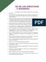 Derechos de Los Directivos y Docentes