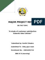 major project report on idea cellular customer.docx