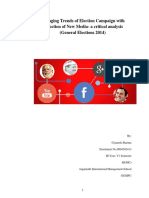 Changing Trends of Election Campaign With the Induction of New Media- A Critical Analysis (General Elections 2014)